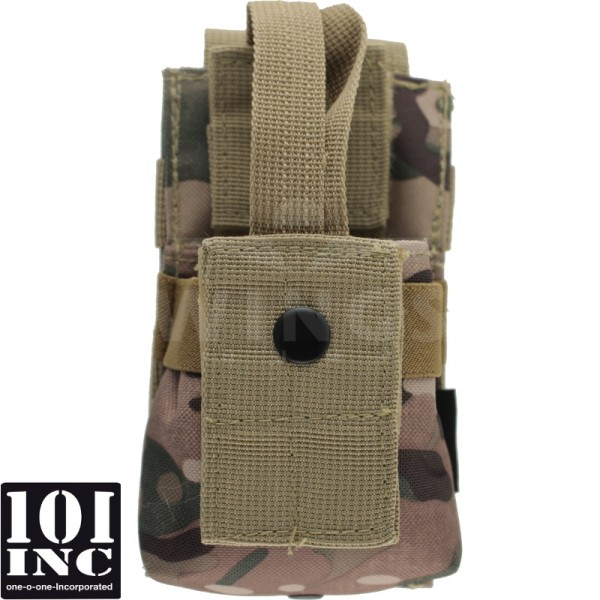Molle system radio utility pouch DTC camo