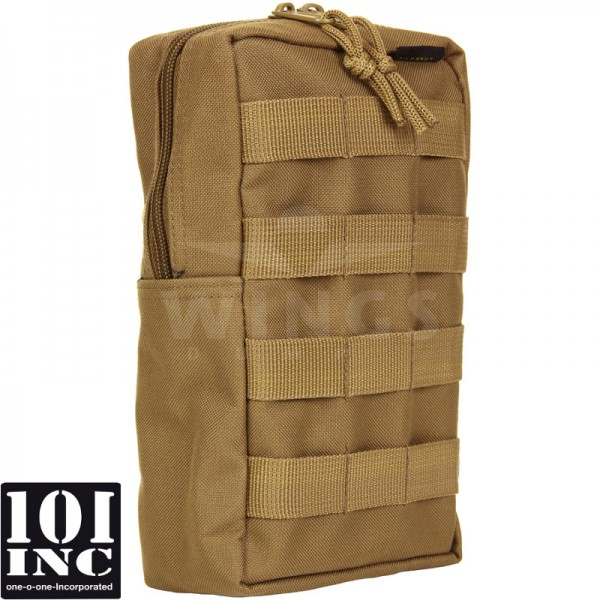 Molle system big upright pouch coyote tan