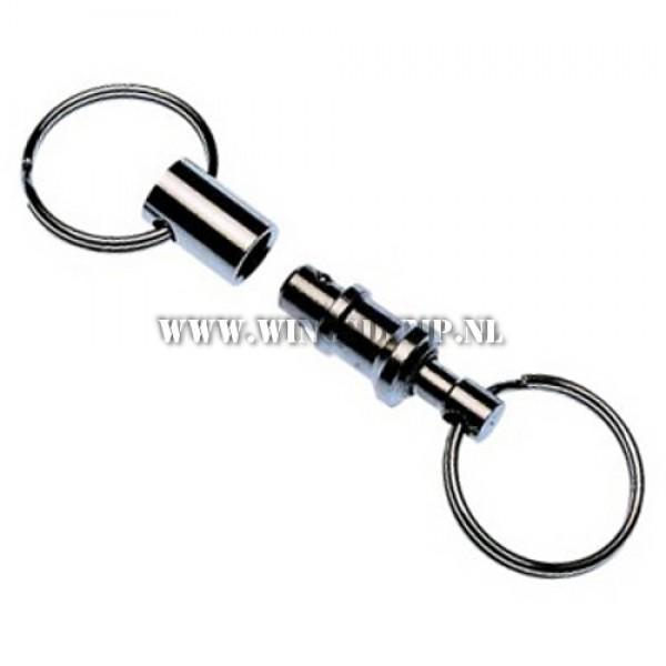 Duo sleutelhanger metaal