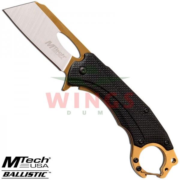 Mtech lockmes 17 cm. hot rod zwart/gold halfauto