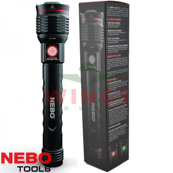 Nebo Redline Blast rechargeable zoom ledlamp