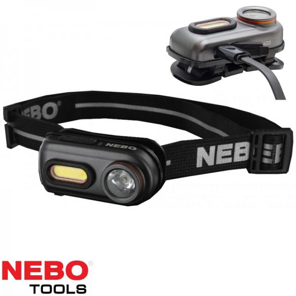 Nebo rechargeable hoofdlamp 400 Lumen