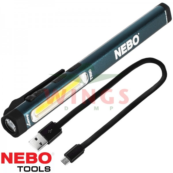Nebo ledlamp Larry Trio rechargeable grey