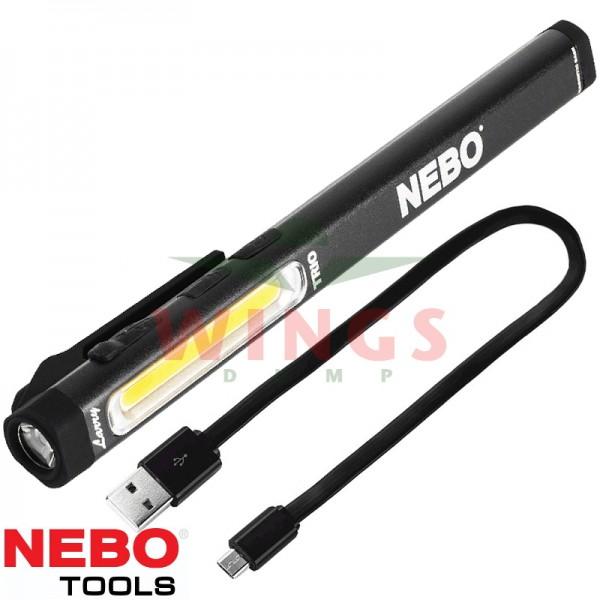Nebo ledlamp Larry Trio rechargeable zwart