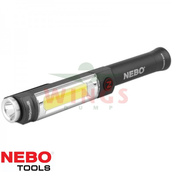 Nebo ledlamp 500 lumen met cob light 3xAA zwart