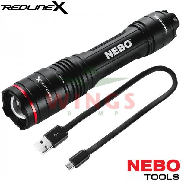 Nebo Redline-X rechargeable zoom ledlamp