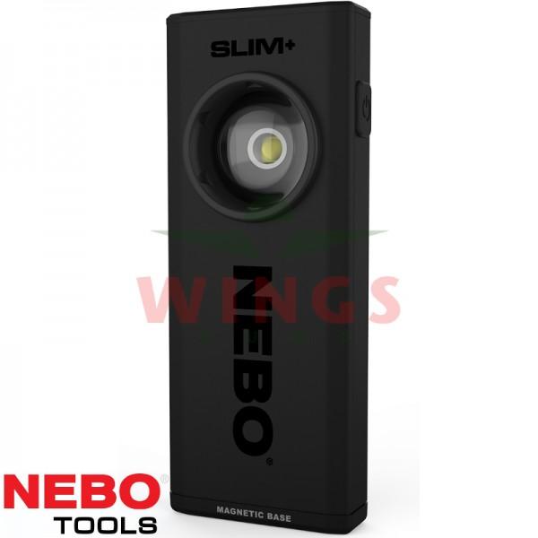 Nebo Slim+ ledlamp met laser en powerbank