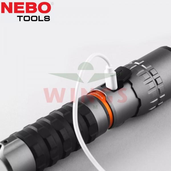 Nebo ledlamp Slyde King 2K rechargeable
