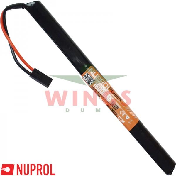 Airsoft accu Nuprol Ni-MH 9,6V 1600mAh stick