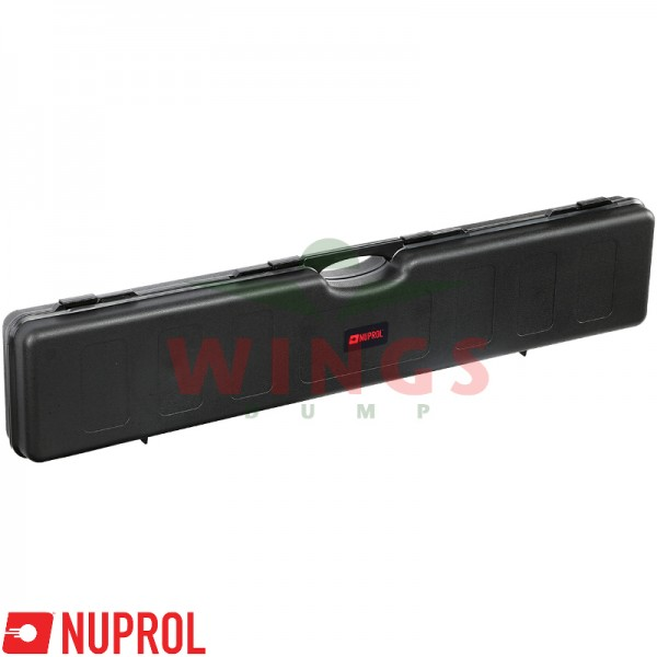 Wapenkoffer Nuprol zwart kunststof  121x23 cm.
