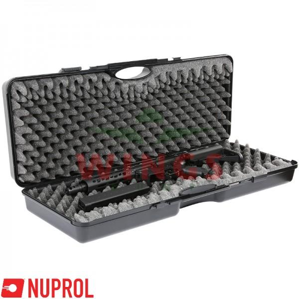 Wapenkoffer Nuprol zwart kunststof  86x30 cm.
