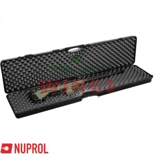 Wapenkoffer Nuprol zwart kunststof  137x30 cm.