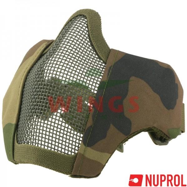 Airsoft masker Nuprol V6 woodland camo