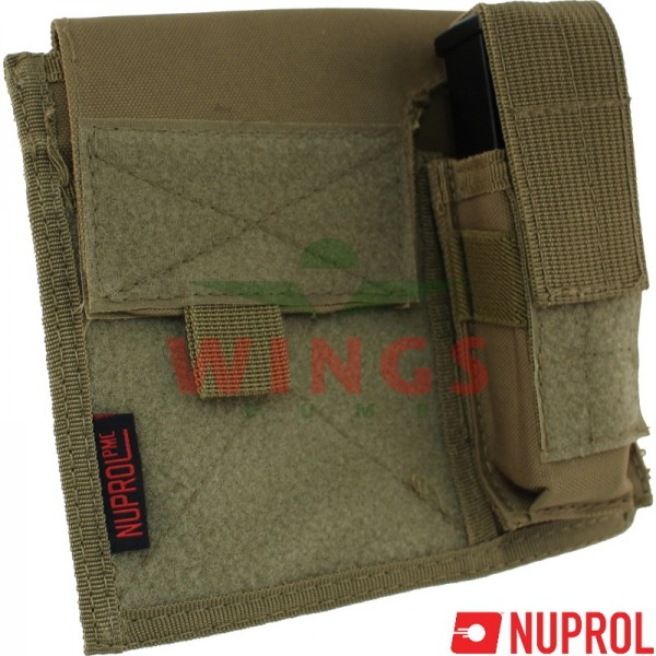 Molle system multipurpose admin pouch coyote tan