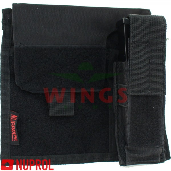 Molle system multipurpose admin pouch zwart