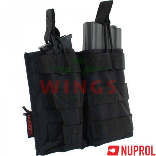 Molle system magazijntas voor M4 en pistol zwart