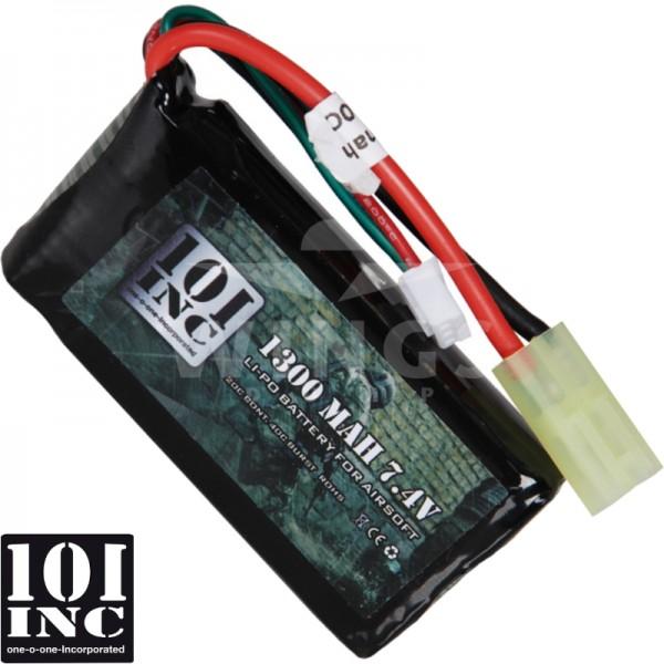 Airsoft accu 101 Inc. 7,4V 1300mAh Li-Po block