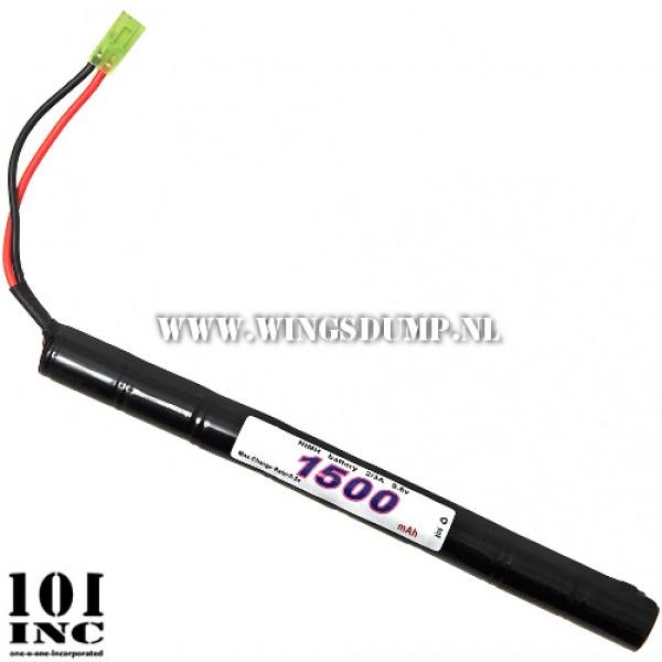 Airsoft accu 101 Incorporated 9,6V 1500mAh stick