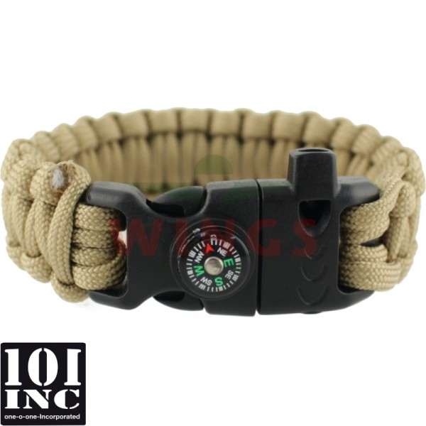 Armband paracord 3 in 1 coyote tan