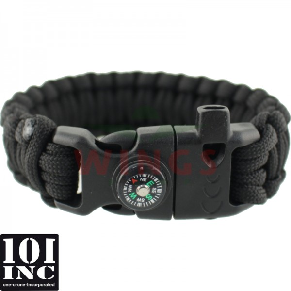 Armband paracord 3 in 1 zwart