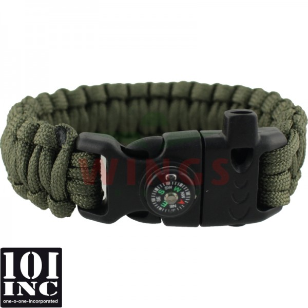 Armband paracord 3 in 1 groen