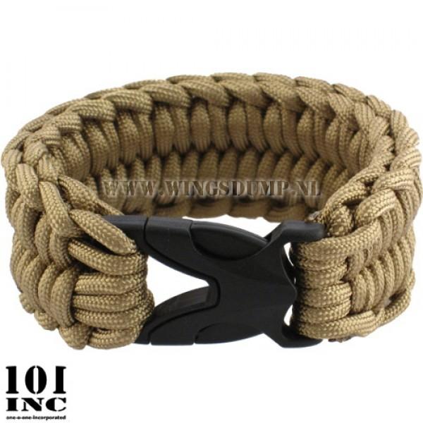 Armband paracord cobra weave coyote tan
