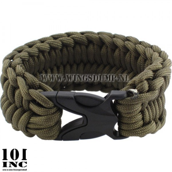Armband paracord cobra weave groen