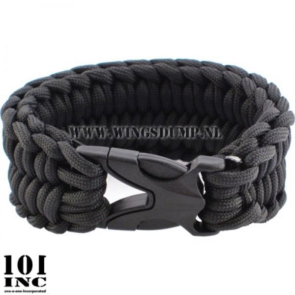 Armband paracord cobra weave zwart