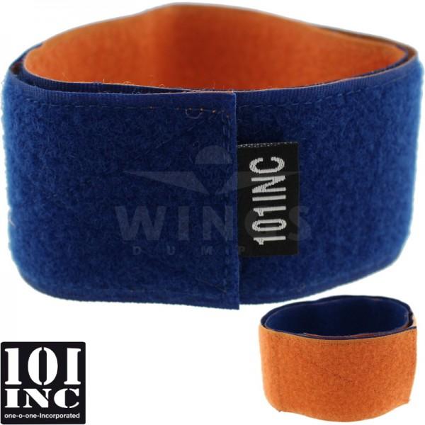 Airsoft armstrap velcro blauw-oranje