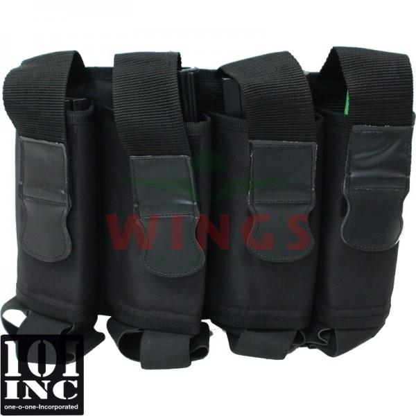 Tactical magazijn belt elastic zwart