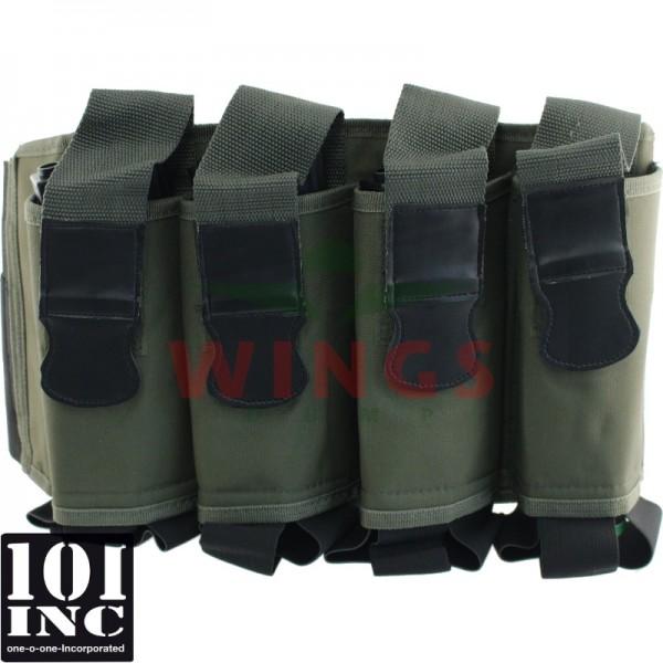 Tactical magazijn belt elastic groen