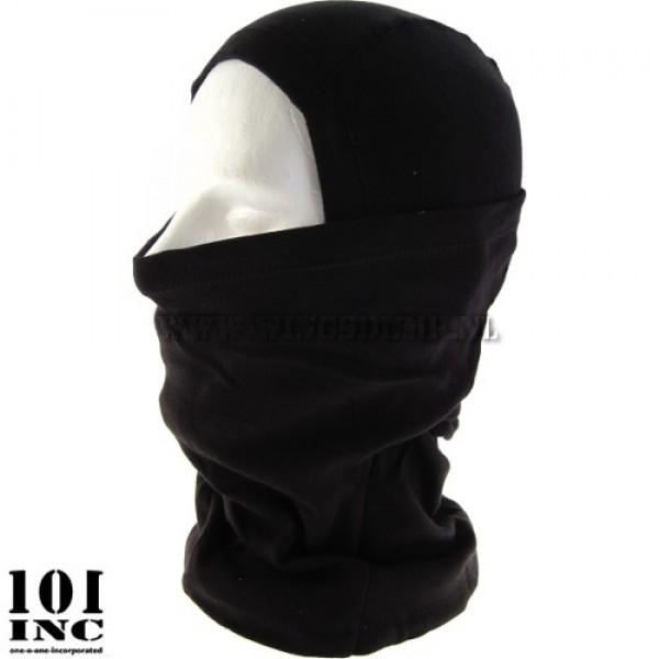 Bivakmuts cotton zwart ninja style
