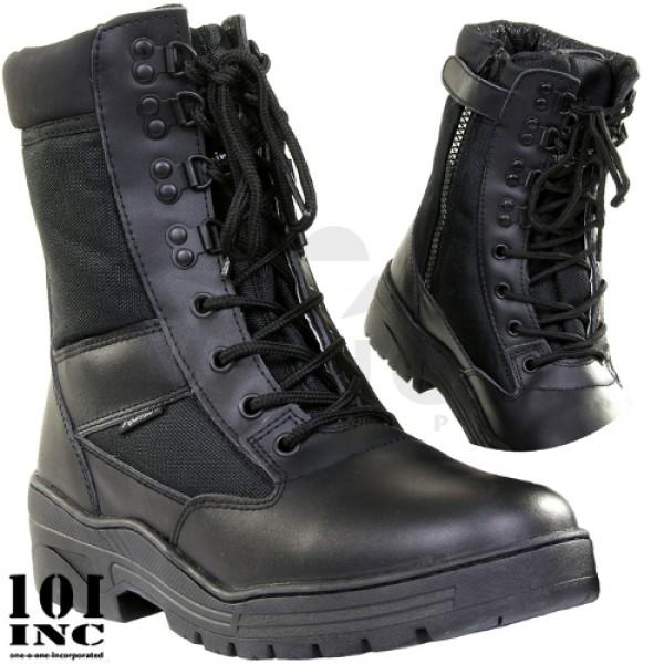 Sniper boots met sidezip zwart