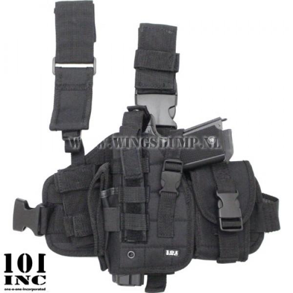 Beenholster 101Inc. molle system zwart linkshandig