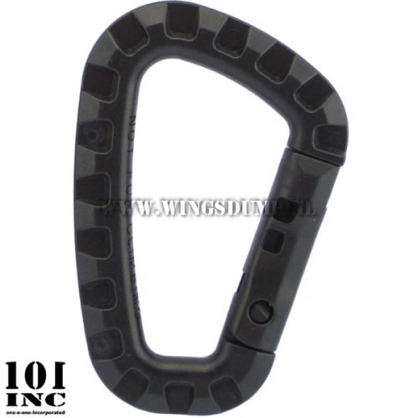 Karabijnhaak kunststof 85x55x7 zwart