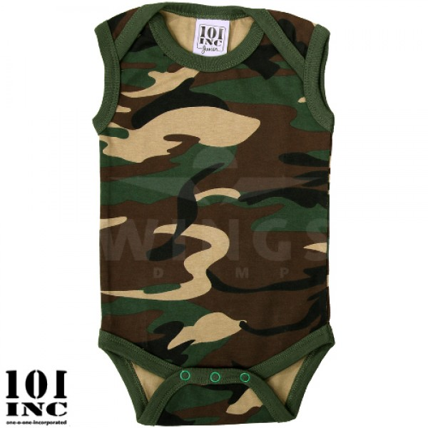Baby romper camouflage