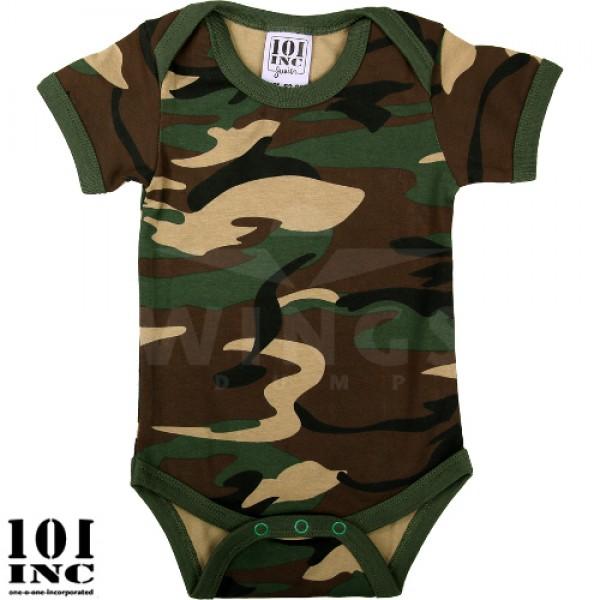 Baby romper korte mouw camouflage