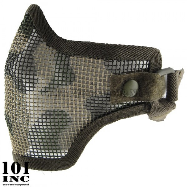Airsoft masker laag model woodlandcamo
