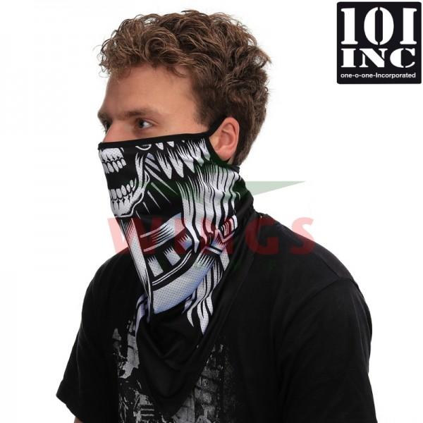 Face mask met oorlus skull met zwaard