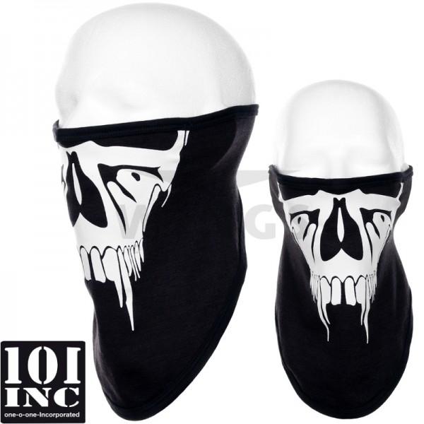 Face mask stretch zwart halloween