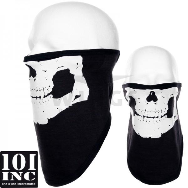 Face mask stretch zwart skull