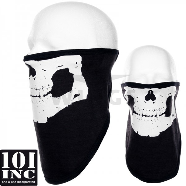 Face mask stretch zwart skull