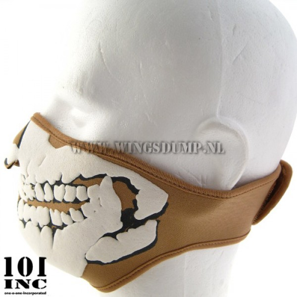 Skull mask 3D neopreen beige