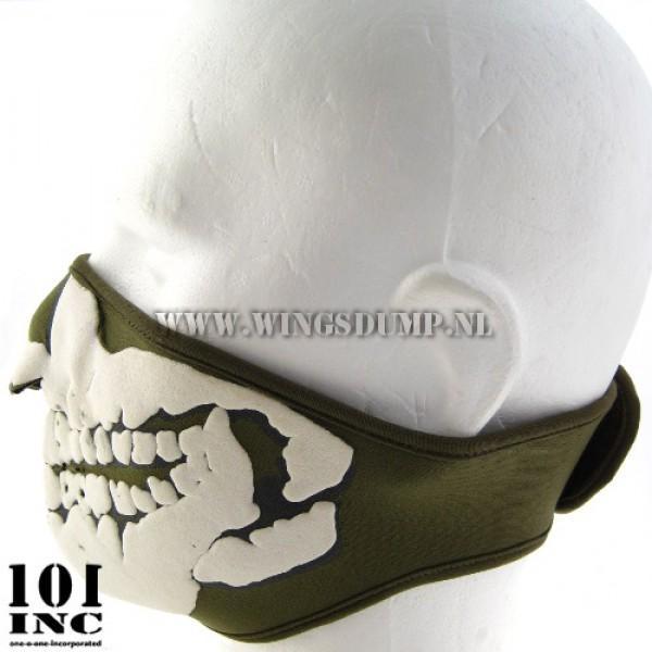 Skull mask 3D neopreen groen
