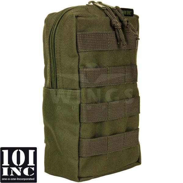 Molle system big upright pouch groen