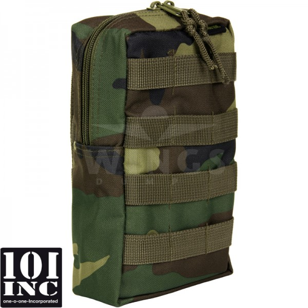 Molle system big upright pouch woodland