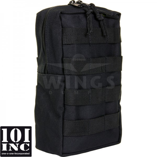 Molle system big upright pouch zwart