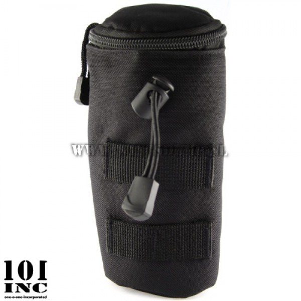 Molle system bottle pouch 20cm. zwart