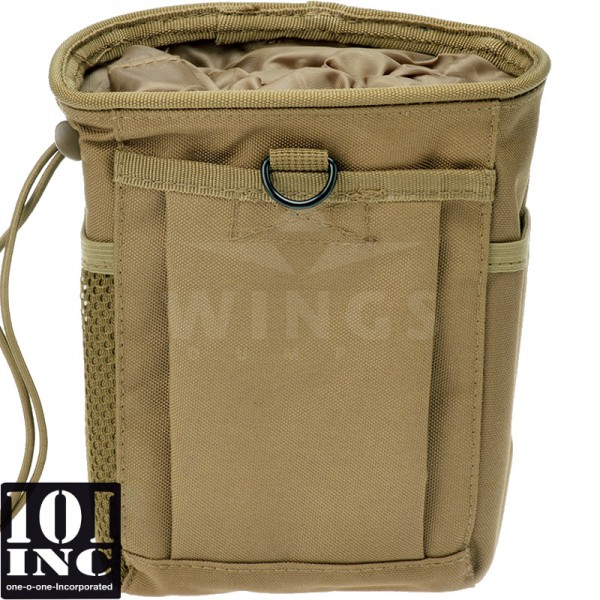 Molle system empty mags dump pouch coyote tan