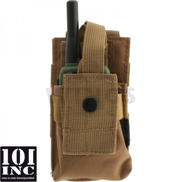 Molle system radio utility pouch coyote tan